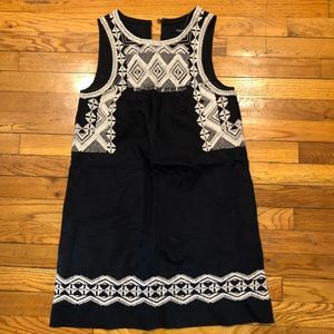 MADEWELL Embroidered Stitchtake Shift Dress in XS